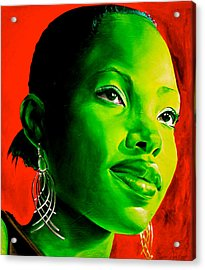 Fatima Acrylic Print by Laura Pierre-Louis