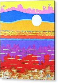 Fauvist Sunset Acrylic Print