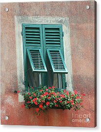 Acrylic Print featuring the photograph Faux  Painting Window  by Frank Stallone