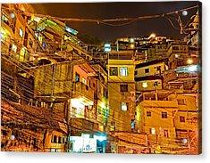 Acrylic Print featuring the photograph Favela Night by Kim Wilson