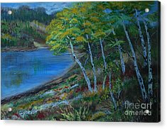 Acrylic Print featuring the painting Favorite Fishin' Hole by Leslie Allen