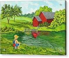 Favorite Fishing Hole Acrylic Print by Charlotte Blanchard