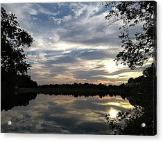 #favoriteplaces #lake #sunset #autumn Acrylic Print