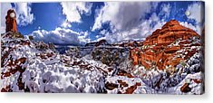 Fay Canyon Snowfall 1 Acrylic Print by ABeautifulSky Photography