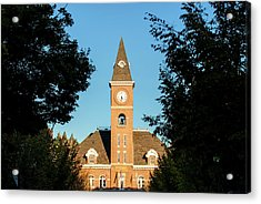 Fayetteville Arkansas Downtown Courthouse At Sunset Acrylic Print