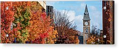 Fayetteville Arkansas Fall Color Cityscape Panorama Acrylic Print