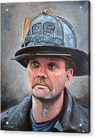 Fdny Lieutenant Acrylic Print by Paul Walsh