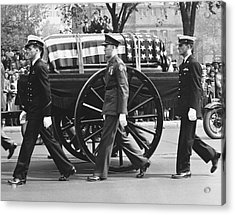 Fdr Funeral Proccesion Acrylic Print by Underwood Archives