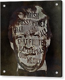 Fear And Loathing American Style Acrylic Print by Susan Maxwell Schmidt