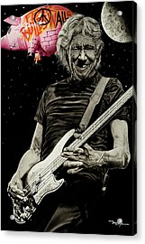 Fear Builds Walls Acrylic Print by Dan Menta
