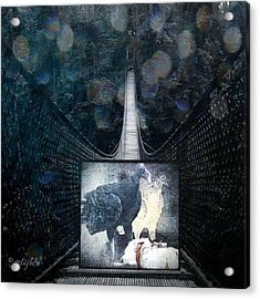 Acrylic Print featuring the digital art Fear Of Stairs by Delight Worthyn