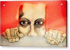 Fear Acrylic Print by Yvonne Lopez