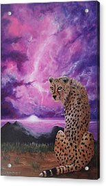 Acrylic Print featuring the painting Fearless  by Christie Minalga