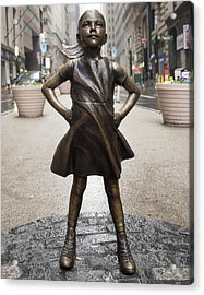 Fearless Girl 2 Acrylic Print
