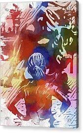 Fearless Girl Wall Street Acrylic Print