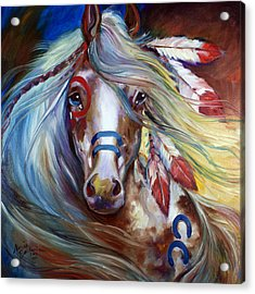 Fearless Indian War Horse Acrylic Print