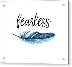 Acrylic Print featuring the digital art Fearless by Jaime Friedman