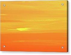 Feather Cloud In An Orange Sky  Acrylic Print