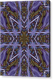 Feather Cross Acrylic Print by Ricky Kendall