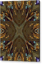 Feather Grace Acrylic Print by Ricky Kendall