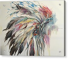 Feather Hawk Acrylic Print