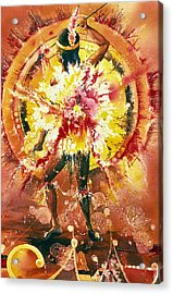 Feather Spirit Dancer Acrylic Print