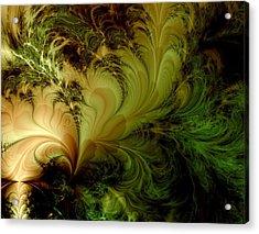 Feathery Fantasy Acrylic Print