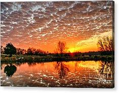 February 2015 East Texas Morning Sunrise Acrylic Print by Lorri Crossno