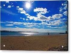 Acrylic Print featuring the photograph February Blue by Valentino Visentini