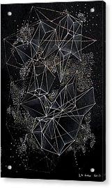 Acrylic Print featuring the mixed media February Madness by Maria Lankina