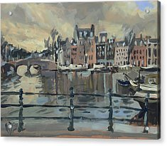 February Morning Along The Amstel Acrylic Print