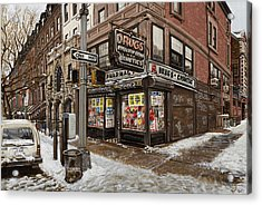 February Pharmacy Acrylic Print by Ted Papoulas