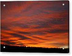 February Sunrise On The Ridge Acrylic Print