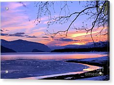 February Sunset 2 Acrylic Print by Victor K