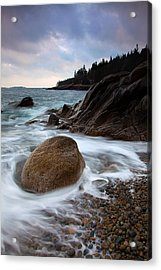 February Tides Acrylic Print by Patrick Downey
