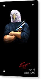 Fed Up 2 Acrylic Print by Reggie Duffie