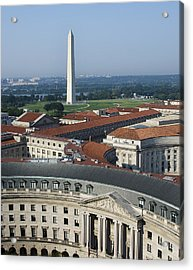 Federal Buildings - The Washington Monument And The National Mall - Washington Dc Acrylic Print by Brendan Reals