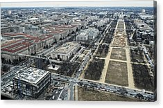 Federal Triangle And Mall Acrylic Print