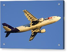 Fedex Airbus A300f4 605r N692fe Phoenix Sky Harbor December 23 2010 Acrylic Print by Brian Lockett