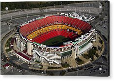 Fedex Field Redskins Stadium Acrylic Print by Steve Monell