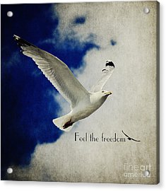 Feel The Freedom Acrylic Print by Angela Doelling AD DESIGN Photo and PhotoArt
