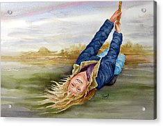 Feelin The Wind Acrylic Print by Sam Sidders