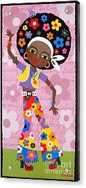Feeling Groovy Acrylic Print by LuLu Mypinkturtle