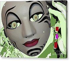 Feeling Slightly Greenish Today Acrylic Print by Tammera Malicki-wong
