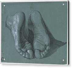 Feet Of A Kneeling Apostle Acrylic Print