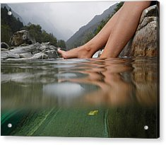 Feet On The Water Acrylic Print by Mats Silvan
