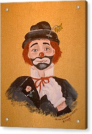Felix The Clown Acrylic Print by Arlene  Wright-Correll