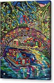 Acrylic Print featuring the painting Feliz Navidad San Antonio by Patti Schermerhorn