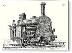 Fell's Locomotive For The Rail Central Railway Acrylic Print by English School