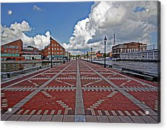 Acrylic Print featuring the photograph Fells Point Pier by Suzanne Stout